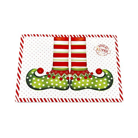 Park Avenue Deluxe Collection Park Avenue Deluxe Collection  inch Elf Shoes inch  Holiday Place Mat Set of 4