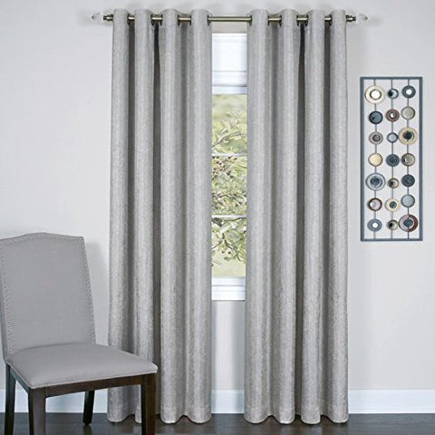 Park Avenue Collection Taylor - Lined Grommet Panel - 50x63 Silver