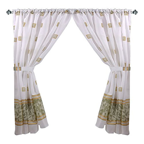 Park Avenue Deluxe Collection Park Avenue Deluxe Collection  inch Windsor inch  Fabric Window Curtain in Jade