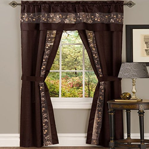 Park Avenue Collection Fairfield 5 Piece Set - 55x63 - Chocolate