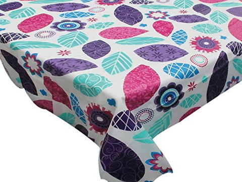 Park Avenue Deluxe Collection Park Avenue Deluxe Collection  inch Spring Passion inch  52 inch  x 70 inch  Vinyl Flannel Backed Tablecloth