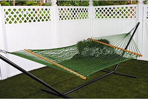Patio Bliss Hammock Classic Cotton Rope- Green - Sage Green