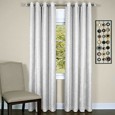 Park Avenue Collection Taylor - Lined Grommet Panel - 50x84 White
