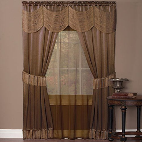 Park Avenue Collection Halley 6 Piece Set - 56x63 - Taupe