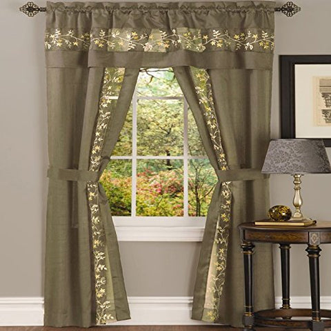 Park Avenue Collection Fairfield 5 Piece Set - 55x84 - Taupe