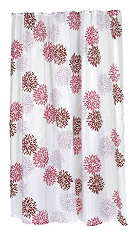 BenandJonah Collection Fabric Extra Long Shower Curtain 70 x 84 inch  Floral