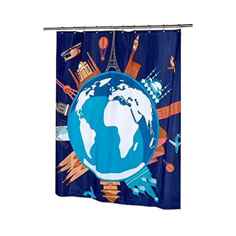 Park Avenue Deluxe Collection Park Avenue Deluxe Collection  inch Our World inch  Fabric Shower Curtain