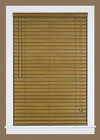 Park Avenue Collection Luna 2 inch  Vinyl Venetian Blind with 2 in. Valance 35x64 - Woodtone