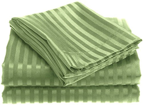 Ben&Jonah Designer Plush King 1800 Series Embossed Sheet Set - Sage