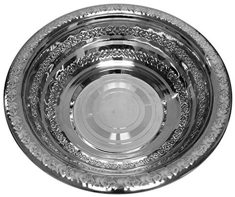 Ben and Jonah Washing Bowl Stainless Steel- 3 inch  H 12 inch  W