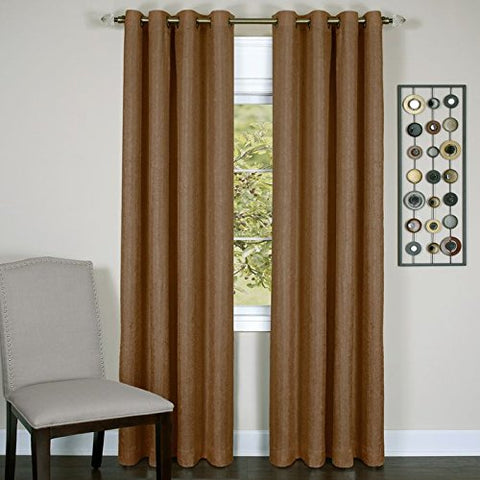 Park Avenue Collection Taylor - Lined Grommet Panel - 50x84 Cinnabar
