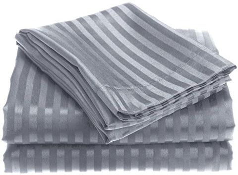 Ben&Jonah Designer Plush Queen 1800 Series Embossed Sheet Set - Grey