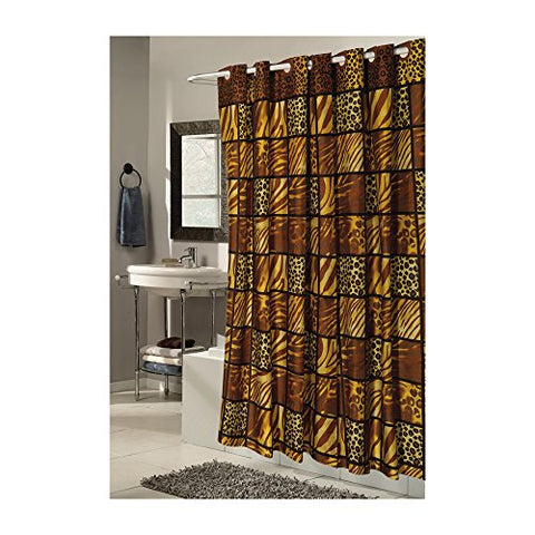 Park Avenue Deluxe Collection Park Avenue Deluxe Collection Extra Wide EZ-ON?  inch Wild Encounters inch  Polyester Shower Curtain