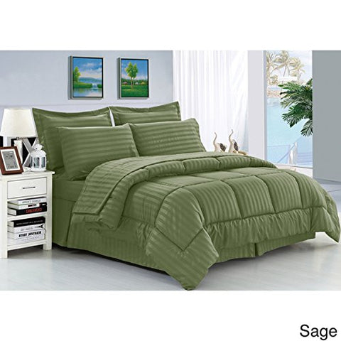 Ben&Jonah Designer Plush King 5 Piece Down Alternative Comforter Set - Sage