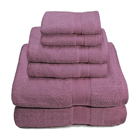 Premium Plush 100% Cotton 650 GSM 6 Piece Towel Set: 2 Bath Towels (30 inch  x 56 inch ) 2 Hand Towels (16 inch  x 30 inch ) and 2 Wash Cloths (14 inch  x 14)
