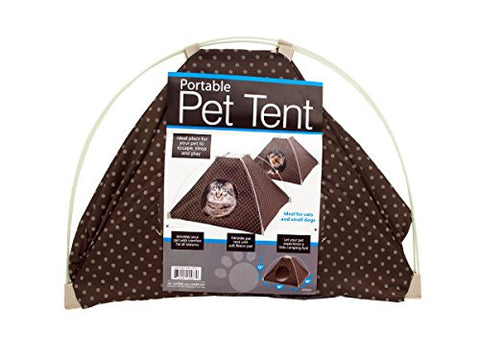 Regalo Perfecto Collection Portable Pet Tent with Soft Fleece Pad