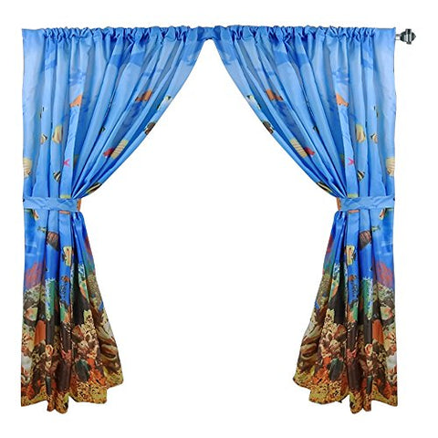 Park Avenue Deluxe Collection Park Avenue Deluxe Collection  inch Seascape inch  Fabric Window Curtain