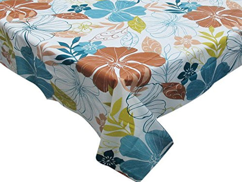 Park Avenue Deluxe Collection Park Avenue Deluxe Collection  inch Summer Floral inch  52 inch  x 70 inch  Vinyl Flannel Backed Tablecloth