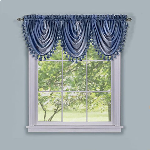 Park Avenue Collection Ombre Waterfall Valance - Blue