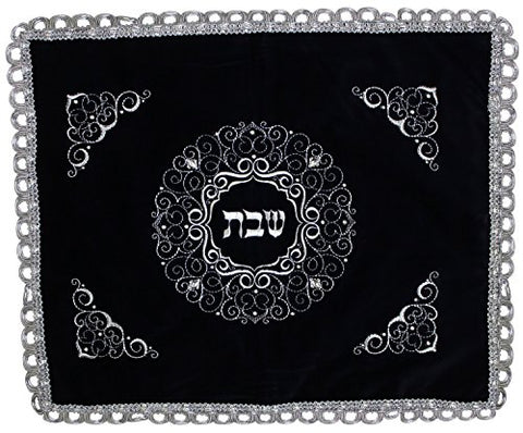 Ben and Jonah Elegant Velvet Challah Cover with Plastic III- 23 inch W X 19 inch H