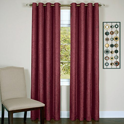 Park Avenue Collection Taylor - Lined Grommet Panel - 50x84 Burgundy