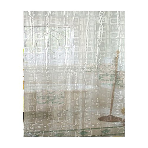 Park Avenue Deluxe Collection Park Avenue Deluxe Collection  inch Geometric inch  Vinyl Shower Curtain