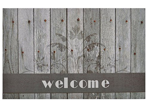 Ben&Jonah Collection Boardwalk Welcome Outdoor Rubber Entrance Mat 18 in. x 30 in.
