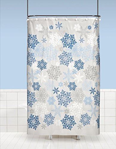 Country Snow Family PEVA Non-Toxic Shower Curtain (70 inch  x 72 inch )