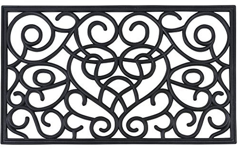 Ben&Jonah Collection Wrought Iron Rubber Mat 18x30 - Iron Heart