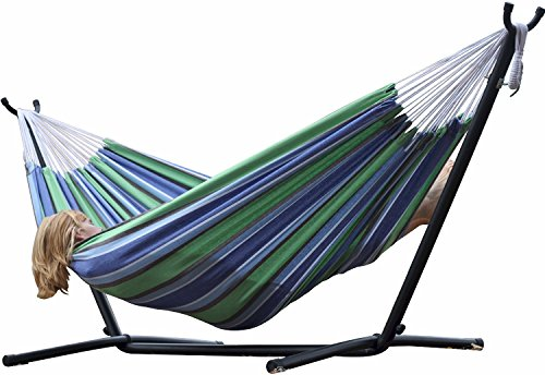 Eclipse Collection Vivere's Combo - Double Oasis Hammock with Stand (9ft)