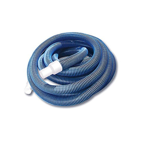 By PoolCentral Blue Extruded EVA In-Ground Swimming Pool Vacuum Hose with Swivel Cuff - 50' x 1.5 inch
