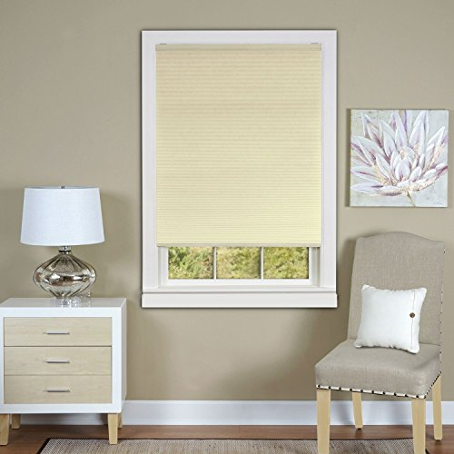 Park Avenue Collection Cordless Honeycomb Cellular Pleated Shade 31x64 - Alabaster
