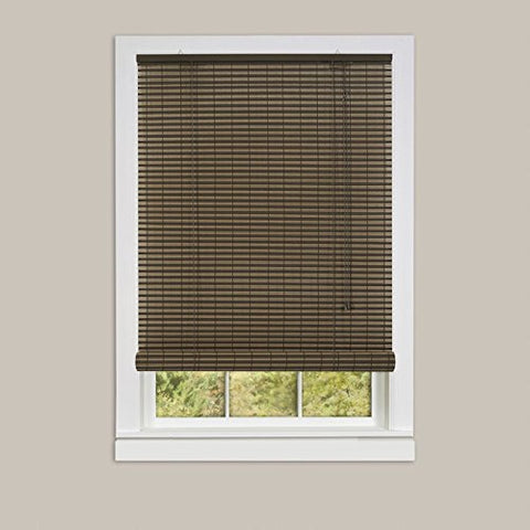Park Avenue Collection Ashland Vinyl Roll-Up Blind 60x72 - Cocoa/Almond