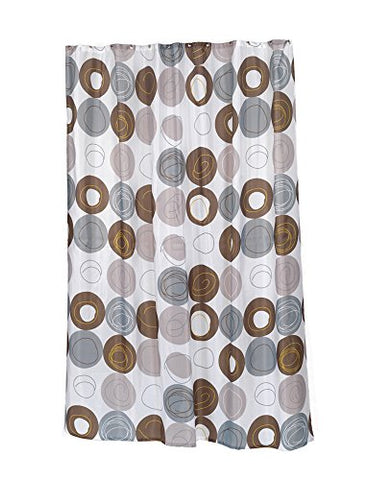 Park Avenue Deluxe Collection Park Avenue Deluxe Collection  inch Madison inch  Stall Size Fabric Shower Curtain