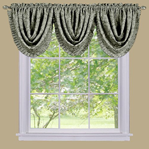 Park Avenue Collection Sutton Waterfall Valance - Sage