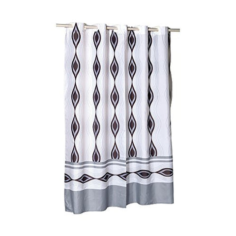 Park Avenue Deluxe Collection Park Avenue Deluxe Collection EZ-ON?  inch Harlequin inch  Polyester Shower Curtain
