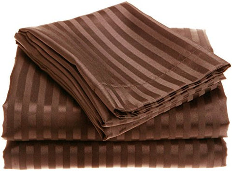 Ben&Jonah Designer Plush Queen 1800 Series Embossed Sheet Set - Chocolate