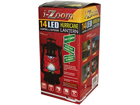 Regalo Perfecto Collection Classic 14 LED Hurricane Lantern With Dimmer Switch