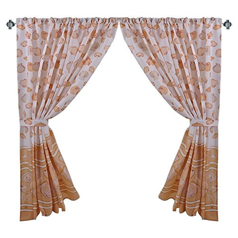 Park Avenue Deluxe Collection Park Avenue Deluxe Collection  inch South Beach inch  Fabric Window Curtain in Ivory