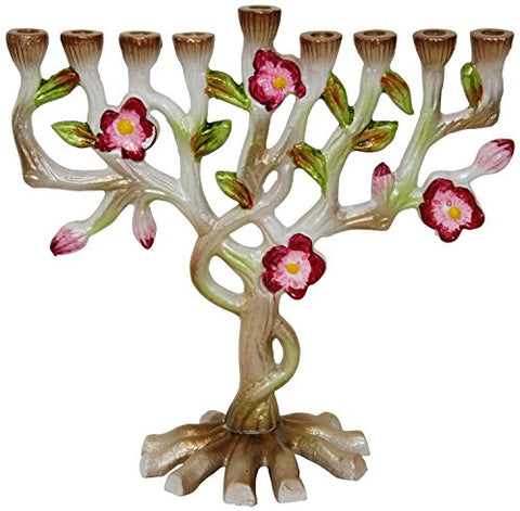 Lamp Lighters Ultimate Judaica Menorah Multi Flower - 6 inch H