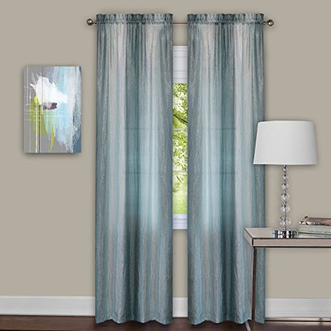 Park Avenue Collection Sombre Panel Pair 40x84 - Mist
