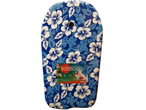 Regalo Perfecto Collection Blue Pattern Bodyboard with Leash