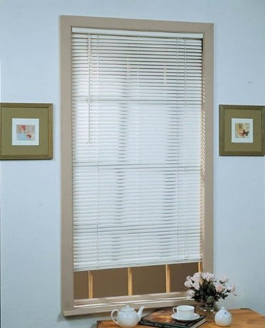 Park Avenue Collection Deluxe Sundown 1 inch  Room Darkening Mini Blind 29x64 - Alabaster