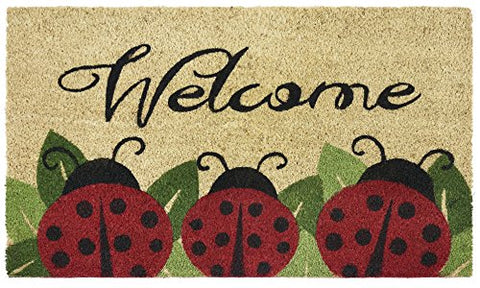 Ben&Jonah Collection Printed Coir Door Mat 18x30 - Ladybug