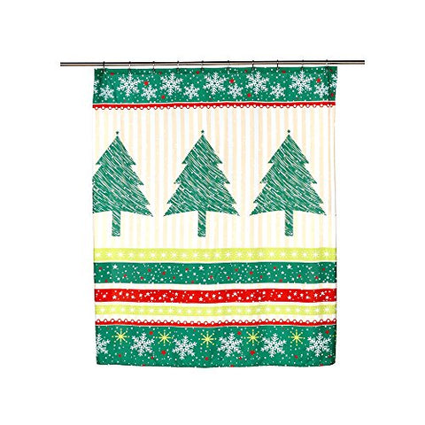 Park Avenue Deluxe Collection Park Avenue Deluxe Collection  inch Tannenbaum inch  Fabric Shower Curtain