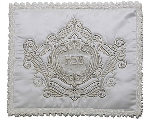 Ben and Jonah Elegant Satin Challah Cover with Heavy Plastic- 18 inch  x 15 inch