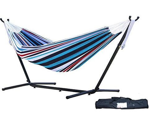 Eclipse Collection Vivere's Combo - Double Denim Hammock with Stand (9ft)