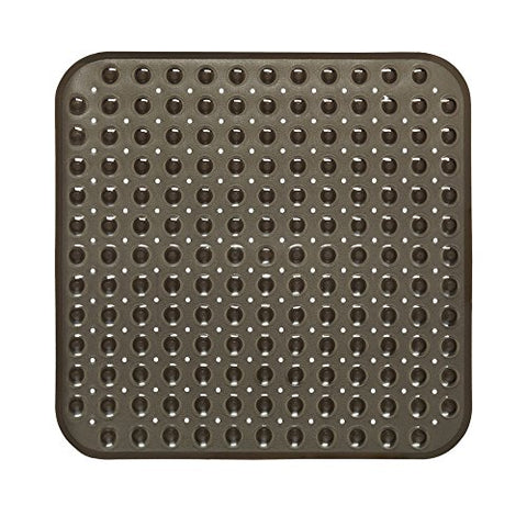 Park Avenue Deluxe Collection Park Avenue Deluxe Collection Stall Size inch Bubble inch  Look Vinyl Bath Mat in black.