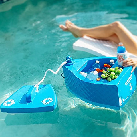 Eclipse Collection uper Soft SS Goodlife Floating Kooler Ice Chest - Made in the USA (Bahama Blue)