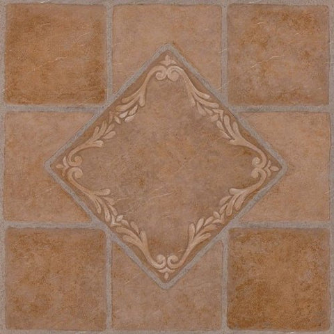 Park Avenue Collection NEXUS South West Ceramic 12 Inch x 12 Inch Self Adhesive Vinyl Floor Tile #445 - 20 Tiles